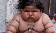 Are 9 luni si cantareste de doua ori mai mult decat un bebelus de varsta ei. Cum arata fetita de 17 kilograme  - VIDEO