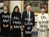 Cata imaginatie! Cele mai amuzante poze editate cu Donald Trump si Papa Francisc - FOTO