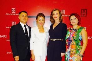 Ana Platonov, impreuna cu partenerii sai din Romania, au prezentat in cadrul unei petreceri noile produse cosmetice Bruno Vassari - VIDEO