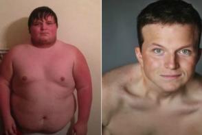 Avea aproape 150 de kilograme si era tinta glumelor proaste. Intr-un an a slabit 84 de kilograme si e transformat total - VIDEO