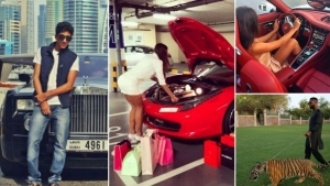Masini luxoase si feline in lant! Copiii milionarilor din Dubai duc o viata incredibila - FOTO