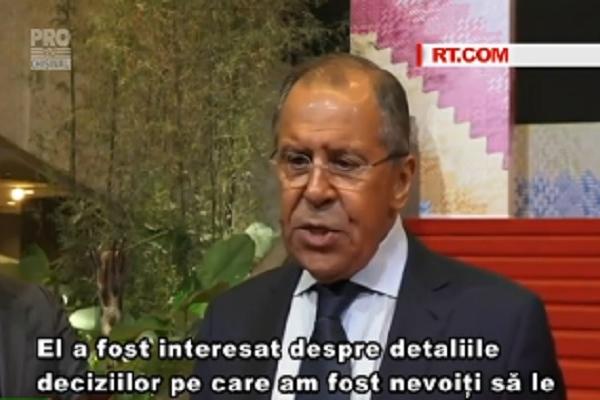 Moscova va raspunde si in continuare daca SUA va lua alte decizii neprietenoase fata de Rusia - VIDEO
