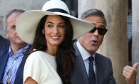 Amal Clooney, stralucitoare alaturi de sotul sau. Arata senzational dupa ce a nascut - FOTO
