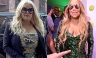 Sunt campioane absolute, cand e vorba de dezastre vestimentare! Jessica Simpson, pe urmele divei Mariah Carey - FOTO