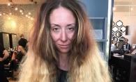 Nu se mai tunsese de ani buni. Cum arata femeia din imagini dupa 7 ore petrecute la salon - FOTO