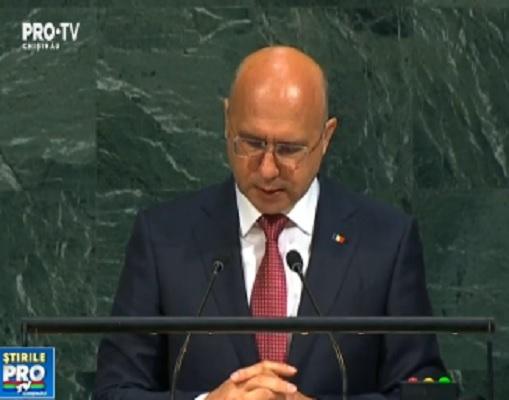 Pavel Filip s-a plans la ONU, intr-un discurs tinut la New York, ca Rusia refuza sa-si retraga trupele dislocate pe teritoriul regiunii transnistrene - VIDEO