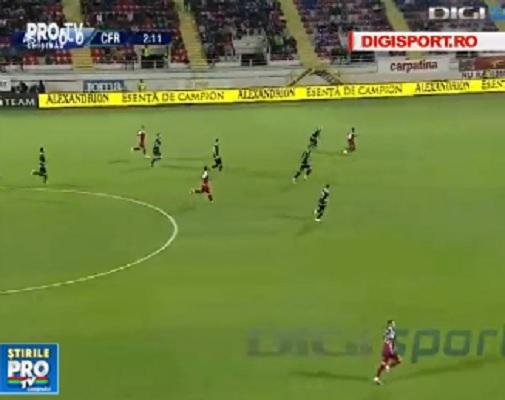 CFR Cluj s-a distantat din nou la 4 puncte de urmaritoarea FCSB. Liderul din campionatul Romaniei a invins cu emotii formatia Astra Giurgiu - VIDEO