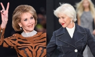 Au peste 70 de ani si afiseaza o gratie de admirat! Actritele Helen Mirren si Jane Fonda, modele superbe pe podium la Paris Fashion Week - FOTO