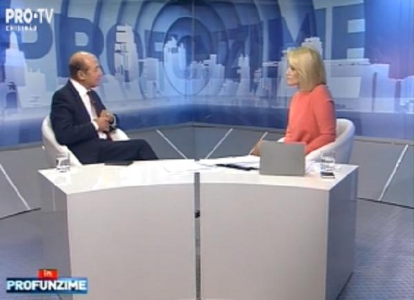 Emisiunea InPROfunzime cu Lorena Bogza. Invitat: fostul presedinte al Romaniei, Traian Basescu