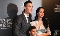 Cristiano Ronaldo, alaturi de iubita insarcinata, la un eveniment monden. Georgina Rodriguez a atras toate privirile cu burtica de gravida - FOTO