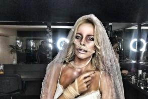 Cu greu o recunosti! Silvia Petrov, deghizata intr-o mireasa razbunatoare de Halloween - FOTO