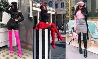Cizmele peste genunchi sunt in trend si anul acesta. Fashionista Marinela Bezer iti recomanda cum sa le porti fara a arata vulgar - FOTO