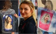 Moldoveanca Victoria Potrimba cucereste prin picturile spectaculoase create pe geaca din denim. Vezi cine din vedetele de la noi a incercat noul trend - FOTO