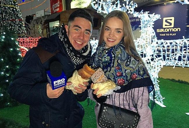 Andrei Nistreanu, impreuna cu modelul Valeria Vornicescu au savurat ceva super delicios, care nu se face la noi in tara. Vezi despre ce gustosenie este vorba - VIDEO